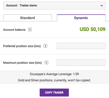 Tradeo Risk Management Screenshot