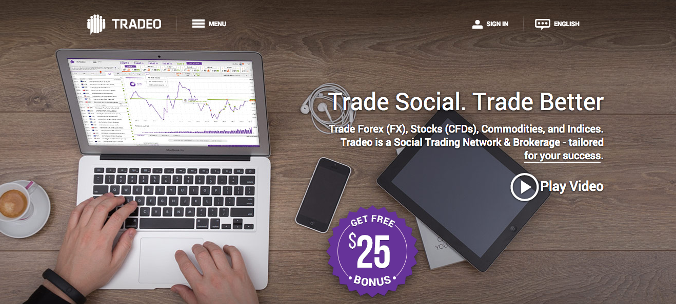 Tradeo Homepage screenshot