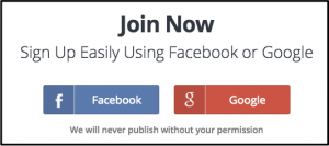 Screenshot of eToro social signup