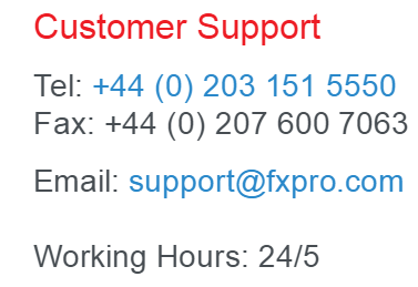 FxPro Customer Support